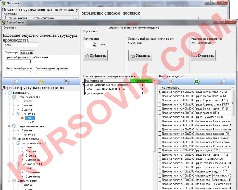 материал расходный заказ поставка производство продукция учет склад сетевой календарный план MRP-система MRP