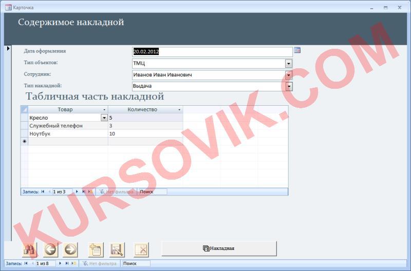 хранение склад ТМЦ СИЗ накладная средства индивидуальной защиты