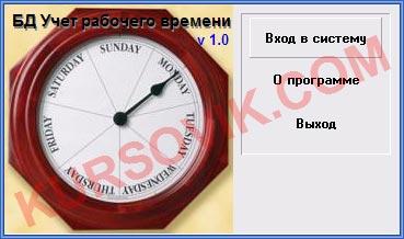 """БД """"Учет рабочего времени сотрудников"""" (ADO + Access)"""