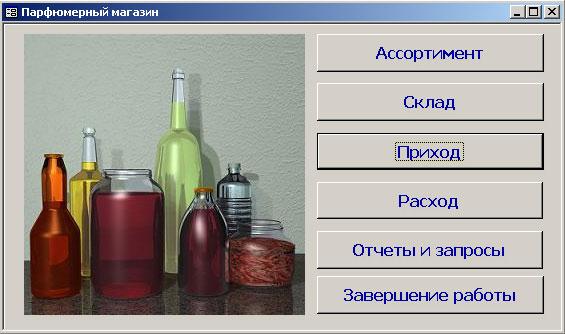 "База данных ""Парфюмерный магазин"""