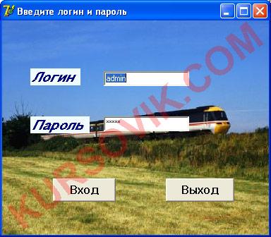 АРМ железной дороги (SQL Server 2000)